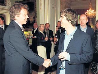 Noel and Tony Blair